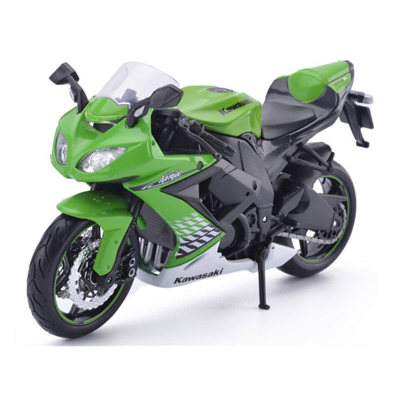 Maisto Kawasaki ZX-10R Scale 1:12 Motorbike Model Diecast & ABS Alloy Motorcycle Model Toy Car Mini Toys Cars For Kids Juguetes