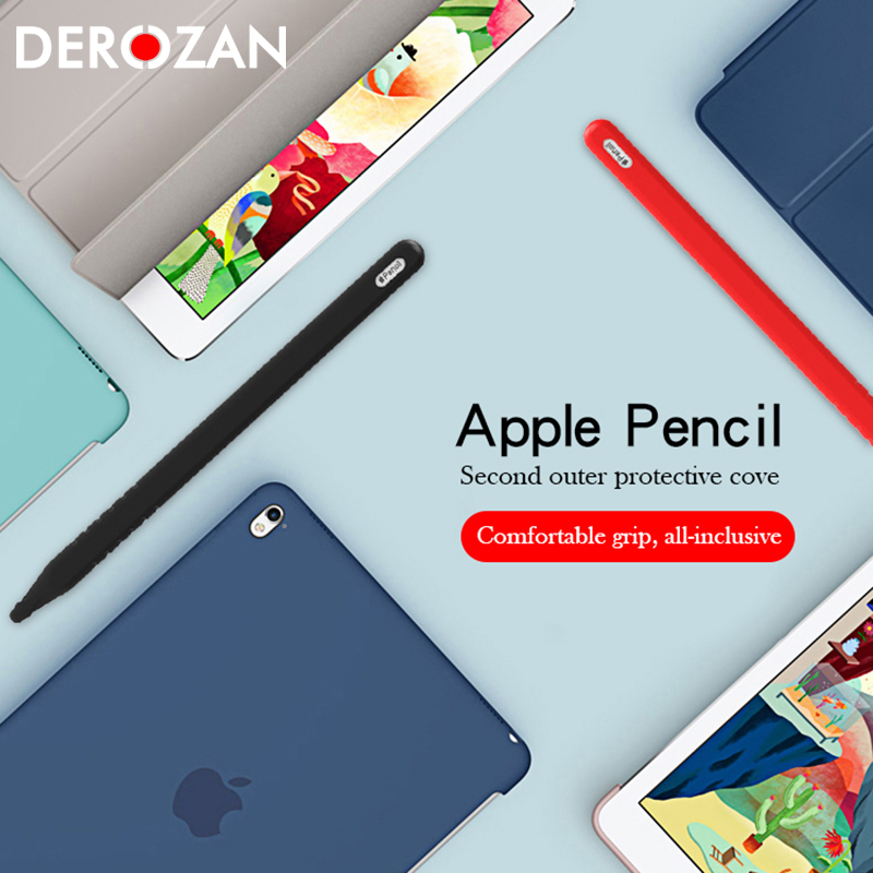 Derozan Tablet Touch Stylus Pen Protective Cases For Apple Pencil 2 Case For IPad Pencil Pouch Portable Cover For IPad Pro 10.5