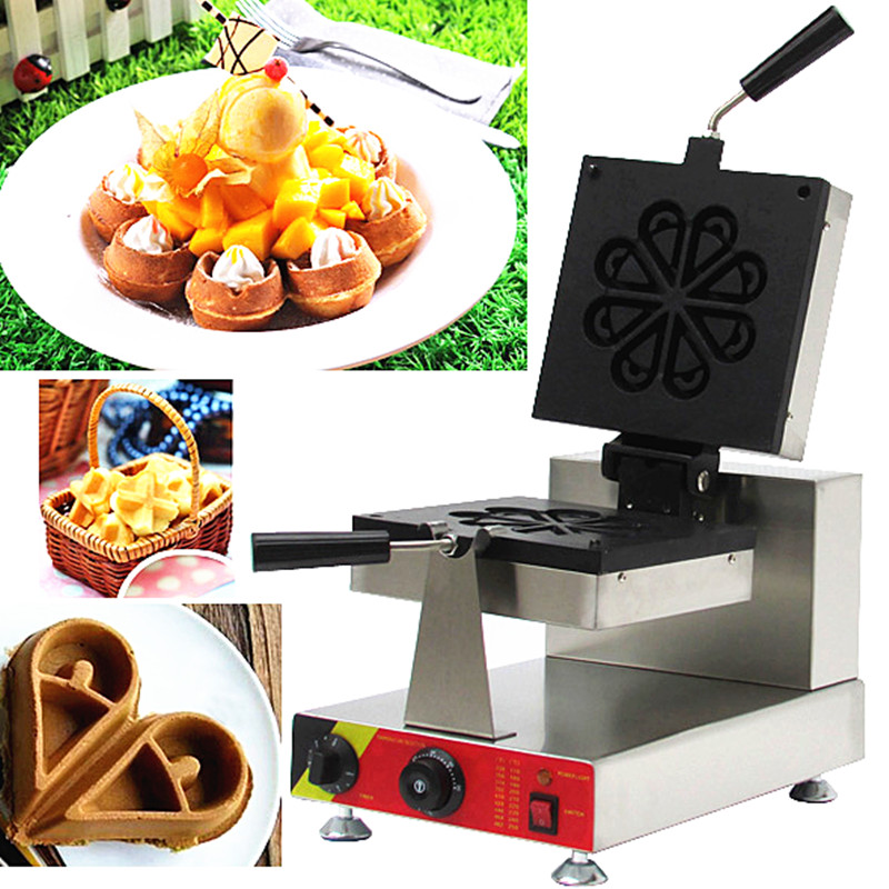 110/220V Commercial Electric Drop Type Waffle Oven Non-stick Petal Waffle Machine Waffle Maker High Quality EU/AU/UK/US Plug 110v 220v commercial electric round waffle cake machine non stick 16pcs muffin cake maker eu au uk us plug high quality