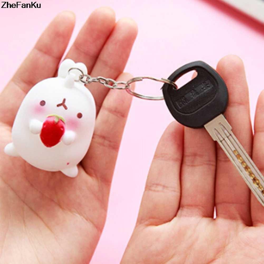 Lucu Hewan Ornamen Kentang Kelinci Gantungan Kunci Korea Kerajinan Dekorasi Mobil Gantungan Kunci Liontin Kecil Kunci Hadiah Perhiasan