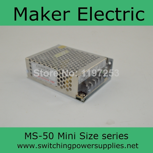MS-50-5 50W 5V 10A Mini size LED Switching Power Supply Transformer 110V 220V AC to DC 5V output 50 5