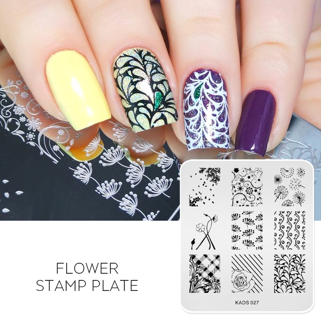 Beauty Nail Art Stamp Stamping Plate Flower Christmas Nail Stencil