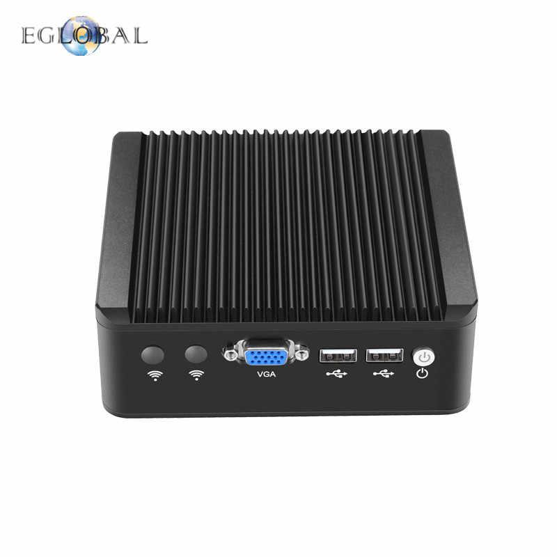Eglobal بدون مروحة Pfsense جهاز كمبيوتر صغير J1900 رباعية النواة 4 * إنتل WG82583 جيجابت Nics جدار حماية متعدد الوظائف شبكة الأمن راوتر
