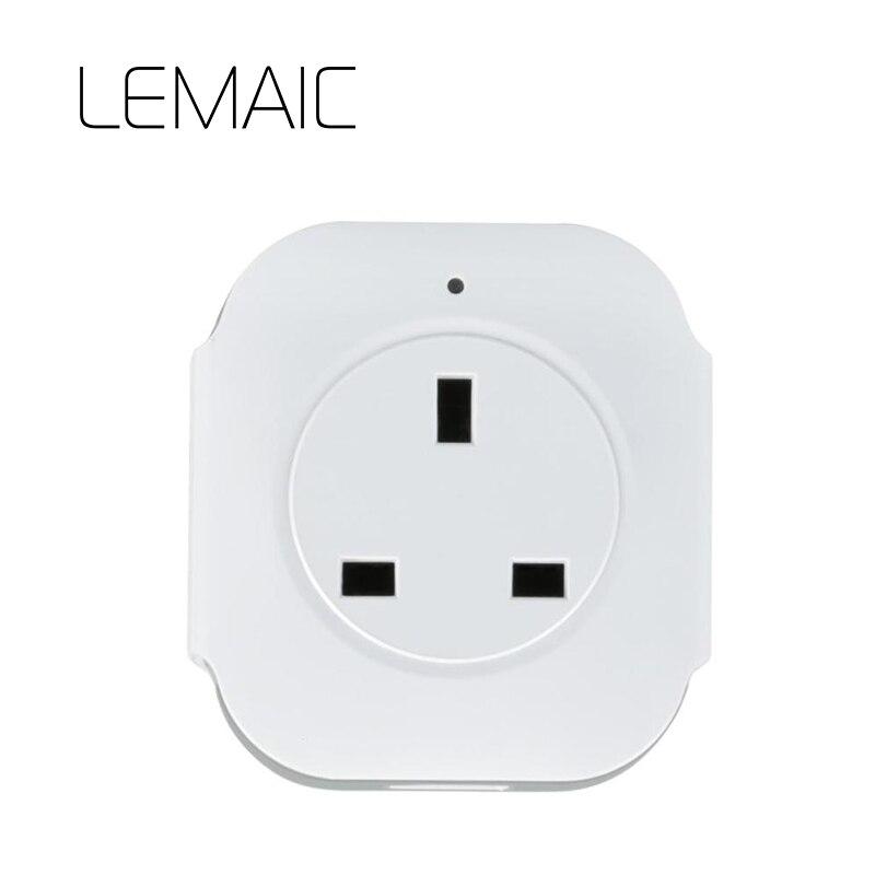 Lemaic Wi-Fi Smart Plug ЕС США Мощность метр монитор 16A + таймер Wi-Fi разъем выход Smart Remote беспроводного управления для iphone
