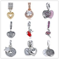 S925 pure silver loose bead DORA pan home diy accessories gem set love flamingos drop rubber shoes hanging bead son
