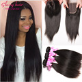 brazilian straight virgin hair with closure rosa hair products human hair with closure remy straight hair bundles with closure