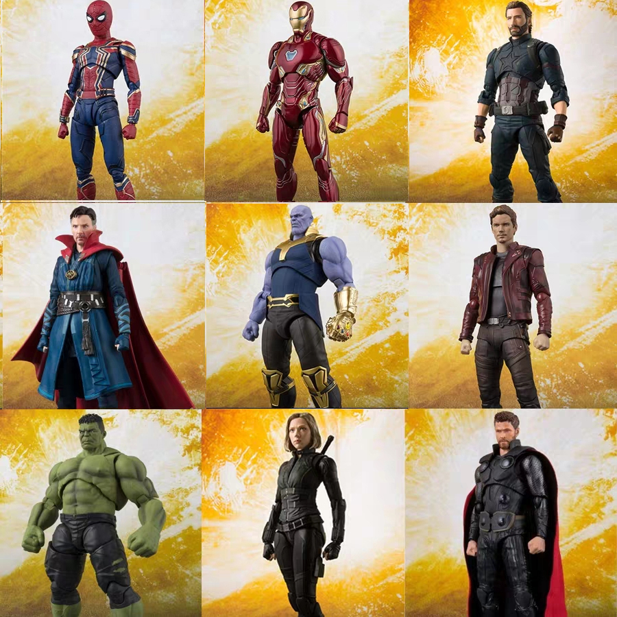 Figuarts Avengers Endgame 4 Infinity War Thor Hawkeye Black Widow Thanos Iron  PVC Action Figure Collectible Model Toys Gift