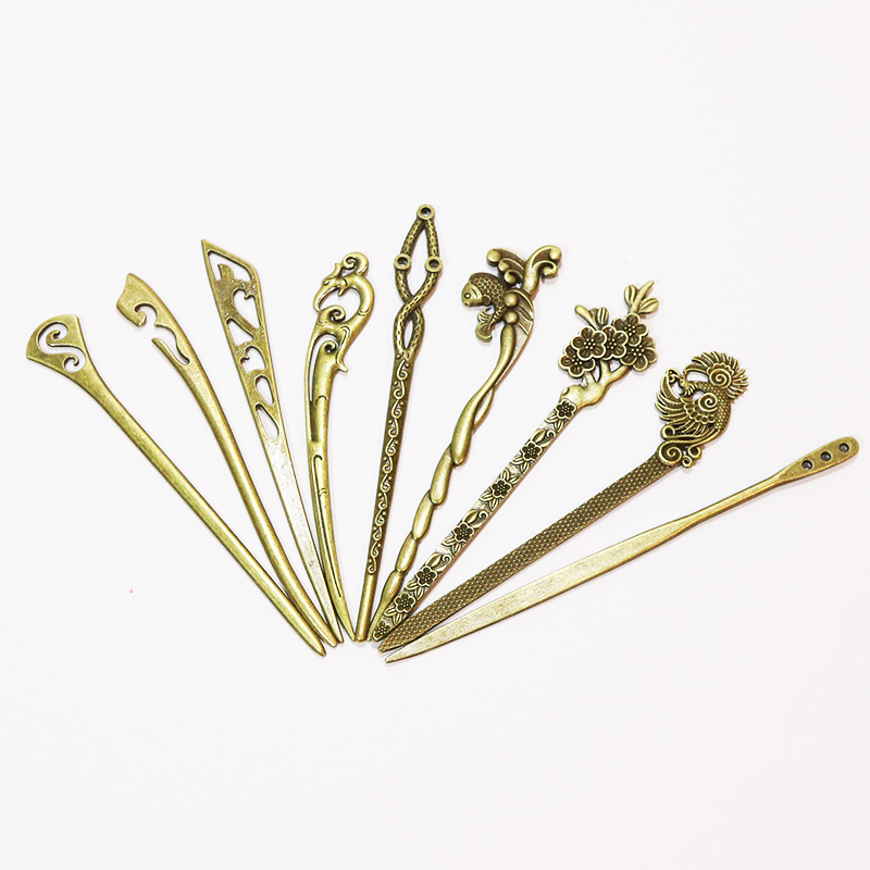 Νέα Μπρονζέ Vintage Hair Sticks 17 Στυλ - Αξεσουάρ ένδυσης - Φωτογραφία 3