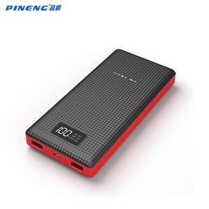 Image 1 - Orijinal Pineng güç bankası 20000mAh PN969 harici pil paketi güç banka 5V 2.1A için çift USB çıkışı Android telefonlar tablet