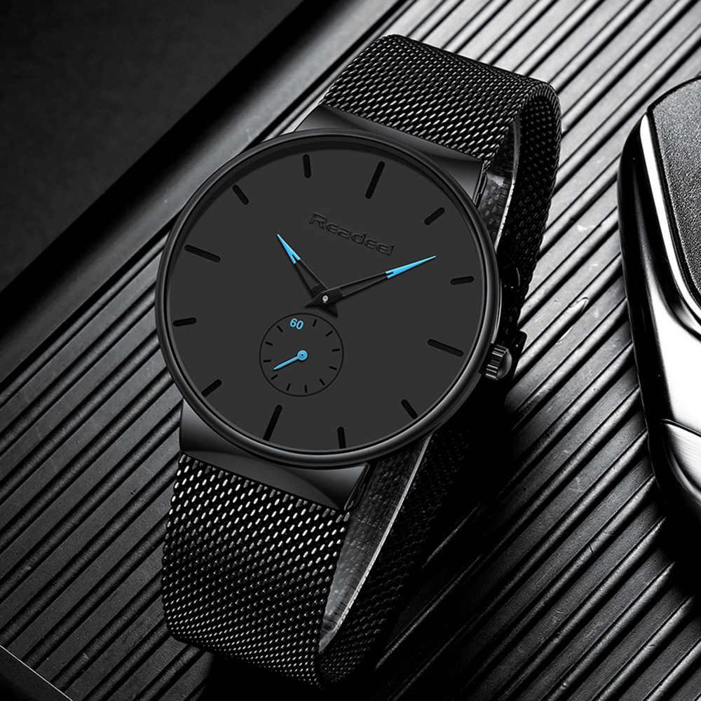 Hommes Sport montres de luxe Ultra mince décontracté étanche Sport montre Quartz plein acier montre pour hommes zegarek meski reloj hombre
