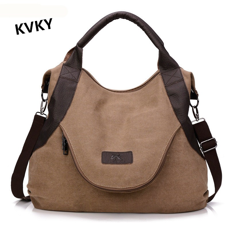 Style Tote Handbag Shopping Canvas Shoulder Bags Large Crossbody Bag CH084