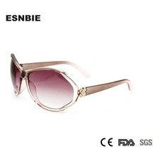 ESNBIE oculos de sol feminino розовые очки в стиле ретро женские солнечные очки Бабочка с цветочным принтом дешевые солнцезащитные очки градиентные оттенки UV400