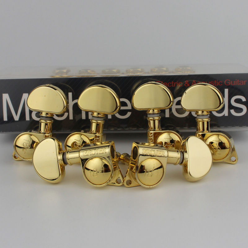 1 Set Grover Electric Guitar Machine Heads Tuners 3R3L Gold 18 1 Tuning Pegs