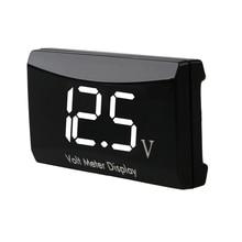 цена на 1 Digital LED Car Voltmeter Thermometer Auto Car USB Charger 12V Temperature Meter Voltmeter Volt Gauge Panel Meter