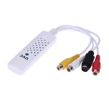 Бесплатная Доставка Портативный Easycap USB 2.0 Аудио Видео Адаптер Capture Card VHS к DVD Video Capture Конвертер Для Win7/8/XP/Vista