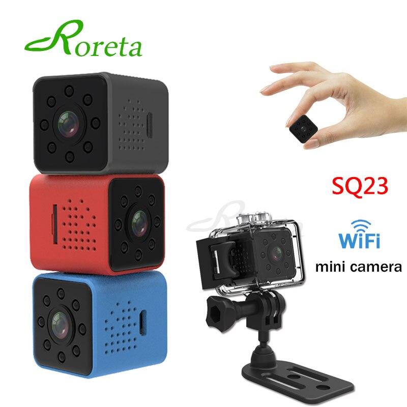 Roreta SQ23 WIFI mini Câmera pequena Câmera cam HD 1080 P Sensor de vídeo Night Vision Filmadora Micro Câmeras DVR Recorder Camcorder