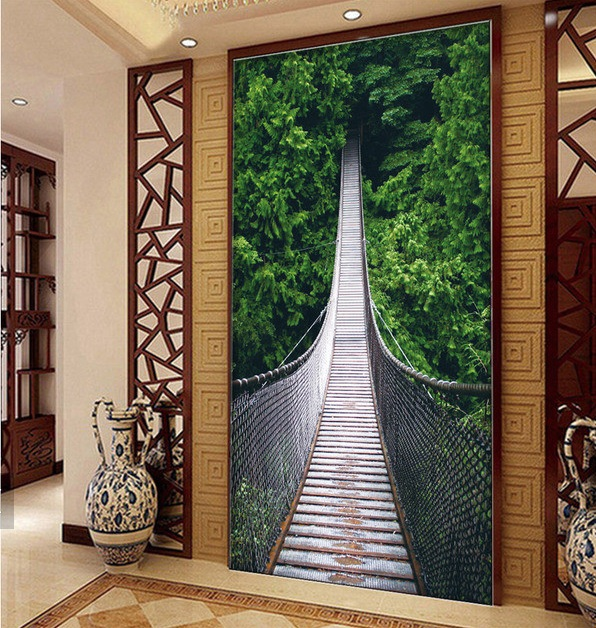 3d room wallpaper custom mural non-woven Wall sticker 3 d scenery suspension bridge porch paintings photo wallpaper for walls 3d палатка greenell велес 3 v 2