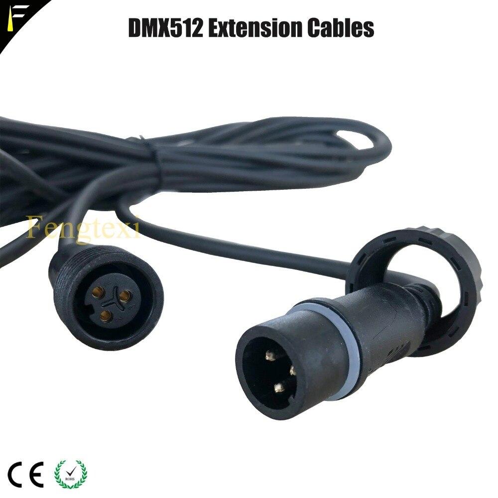 LED Par Light DMX512 Extension Cords Cable Outdoor Waterproof DMX Cables 2m 5m 10m Length Optional