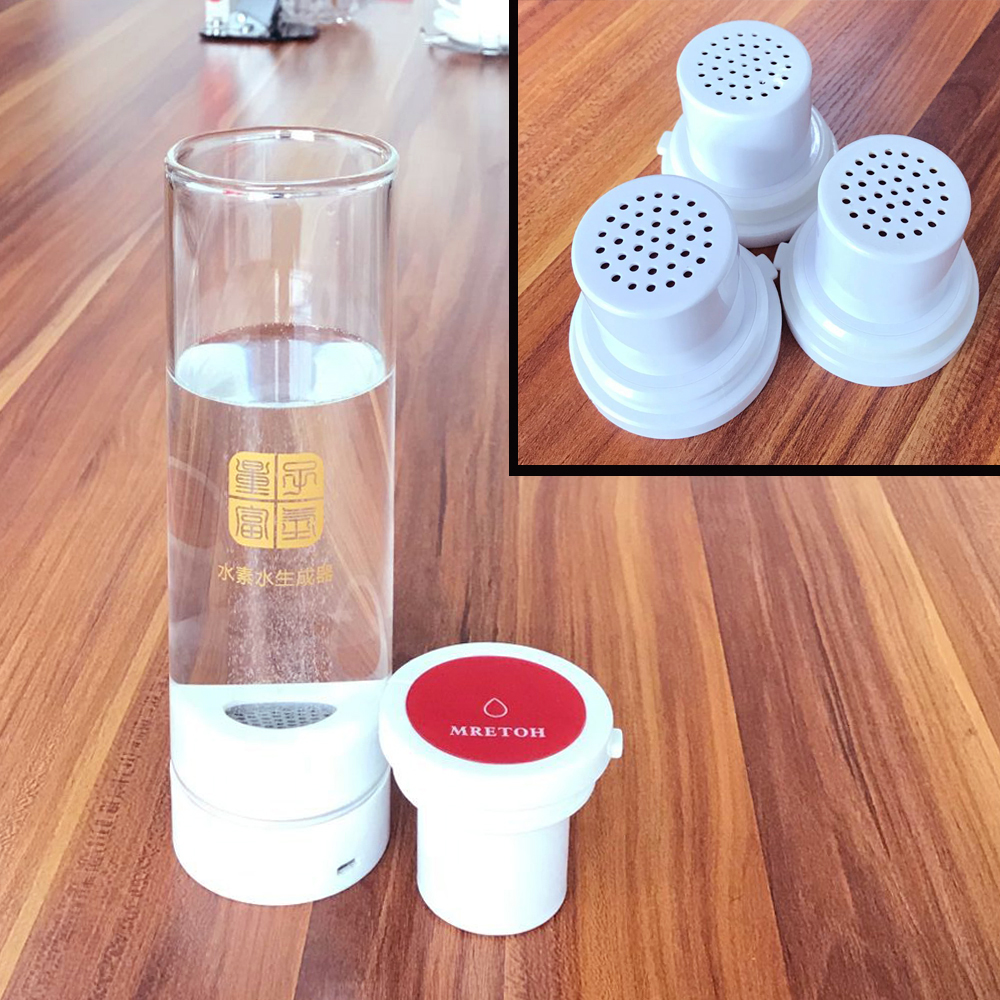 Electrolysis Hydrogen oxygen separation cup and MRETOH 7.8Hertz Earth frequency Hydrogen Rich generator water cup