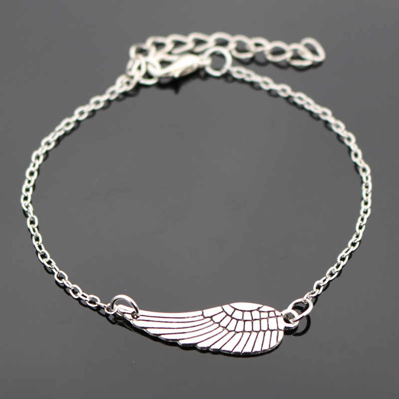 SL182 One Direction очаровательные браслеты с крыльями ангела Браслеты для женщин и мужчин ювелирные изделия wrap Браслеты 2018 новое поступление