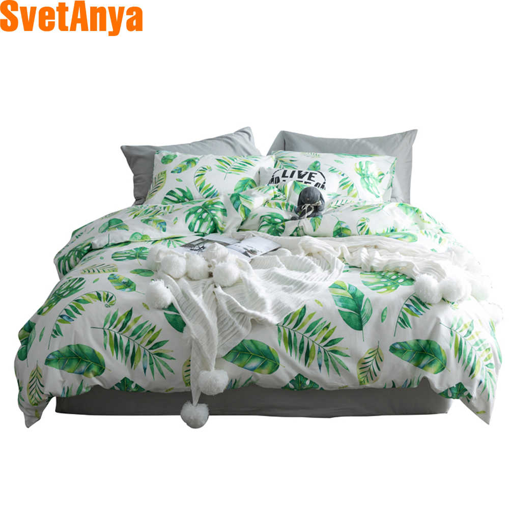 Svetanya 1pc Plants Print Duvet Cover 100 Cotton Quilt Comforter Blanket Bedding Covers single full double queen king size