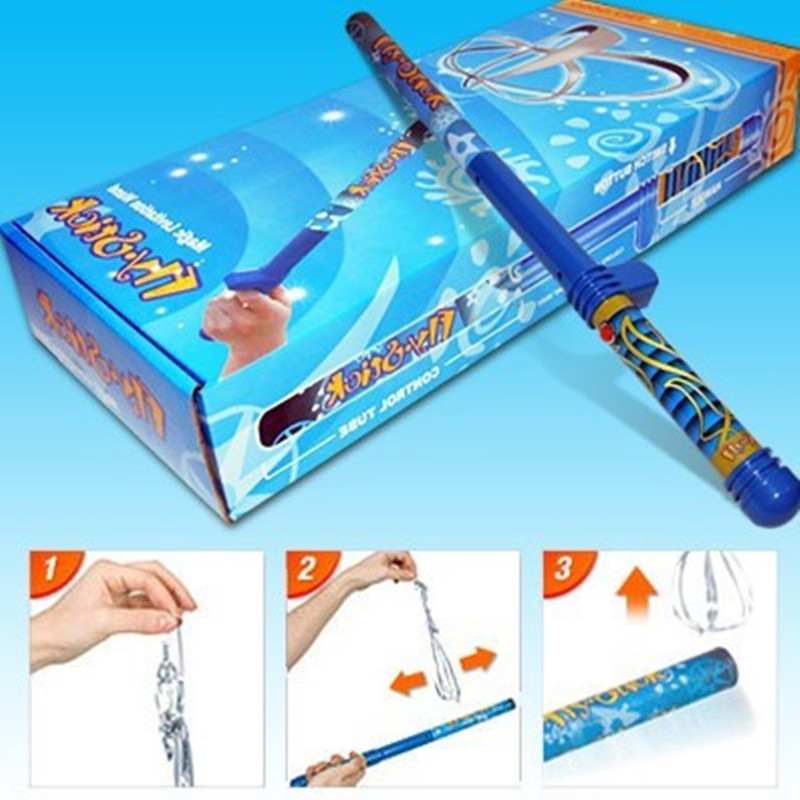 wizard school toy Magic Wander Fun Fly Stick Novle levitation Item with 5 additional fly ...