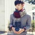 2016 мода Горячие стиль рекомендовать! хан издание студент зимняя шерсть шарф/Бизнес случайный мужской сплайсинга вязание шарф