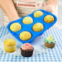 Бесплатная доставка выпечки инструменты кекс сдобы чашки торт кастрюли плесень 6 силикагель экологичный diner
