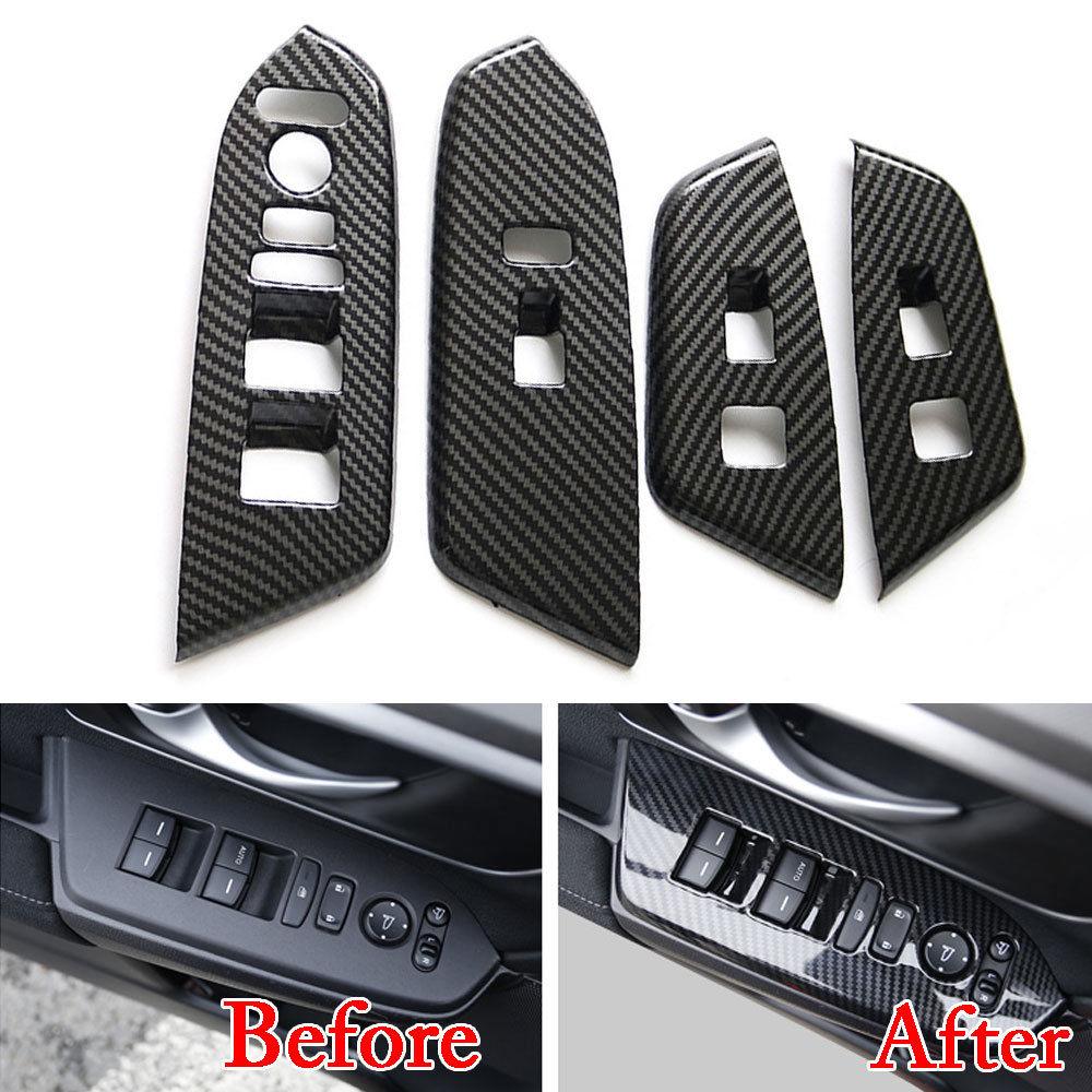 Car Styling Door Handle Armrest Cover Window Lift Adjust Cover Trim Moldings Chrome ABS Frame Overlays For Honda CRV CR-V 2017 ветровик rein для honda cr v iii 2006 2012 кроссовер на накладной скотч 3м 4 шт