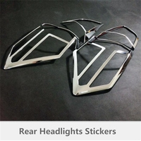ABAIWAI Rear Headlights Protective Cover For Nissan X Trail Shining Car Styling ABS Chrome X Trail