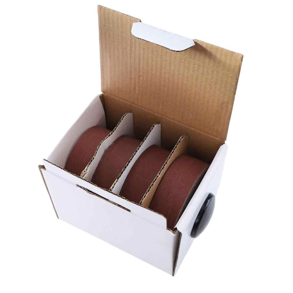 4pcs Abrasive Paper Belted Box Drawable Emery Cloth Roll for Metal Glass Carpentry Sanding Paper Furniture Polishing