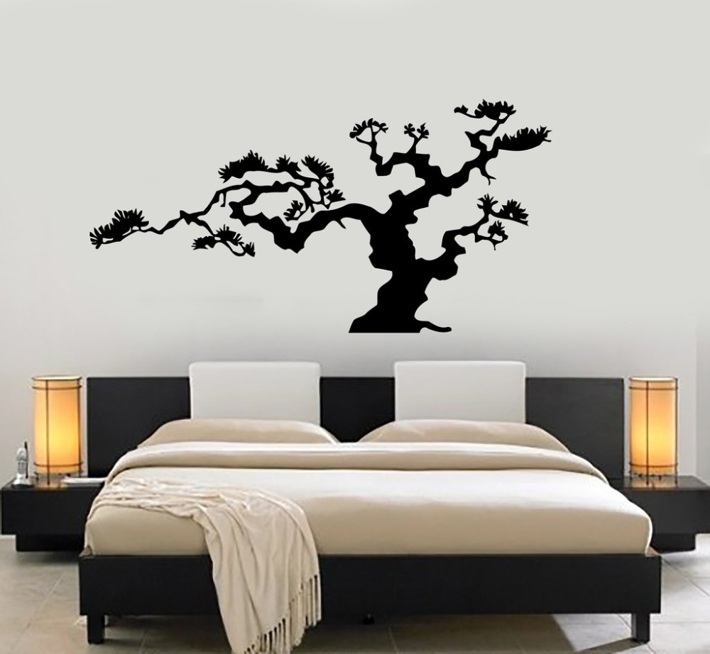 Japanese Bonsai Tree Vinyl Wall Stickers Nature Decor
