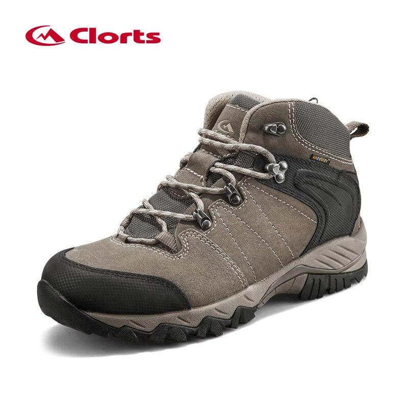 Clorts botas de trekking impermeables para hombres Zapatos de trekking Zapatos de cuero de gamuza al aire libre para hombres Zapatillas de deporte de montaña HKM-822A / G