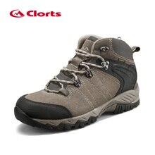 Clorts Waterproof Hiking Boots Men Trekking Shoes Suede Leather Outdoor Shoes Men s Winter Sneaker Mountain