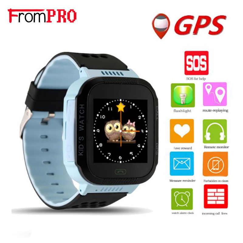 Mignon enfant GPS montre intelligente avec lampe de poche bébé montre enfants SOS appel localisation dispositif Tracker bébé montres