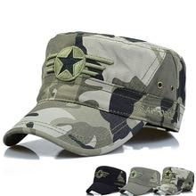 Nuovo cotone berretto piatto uomini e donne cappelli militari cinque-stella  del ricamo di estate cd88128b97c7