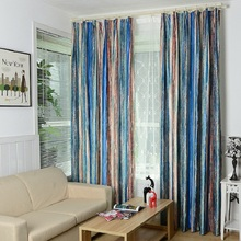 Blackout Curtain For Living Room Bedroom American Country Style Striped  Polyester Cortinas Window Curtain Rideau Curtains