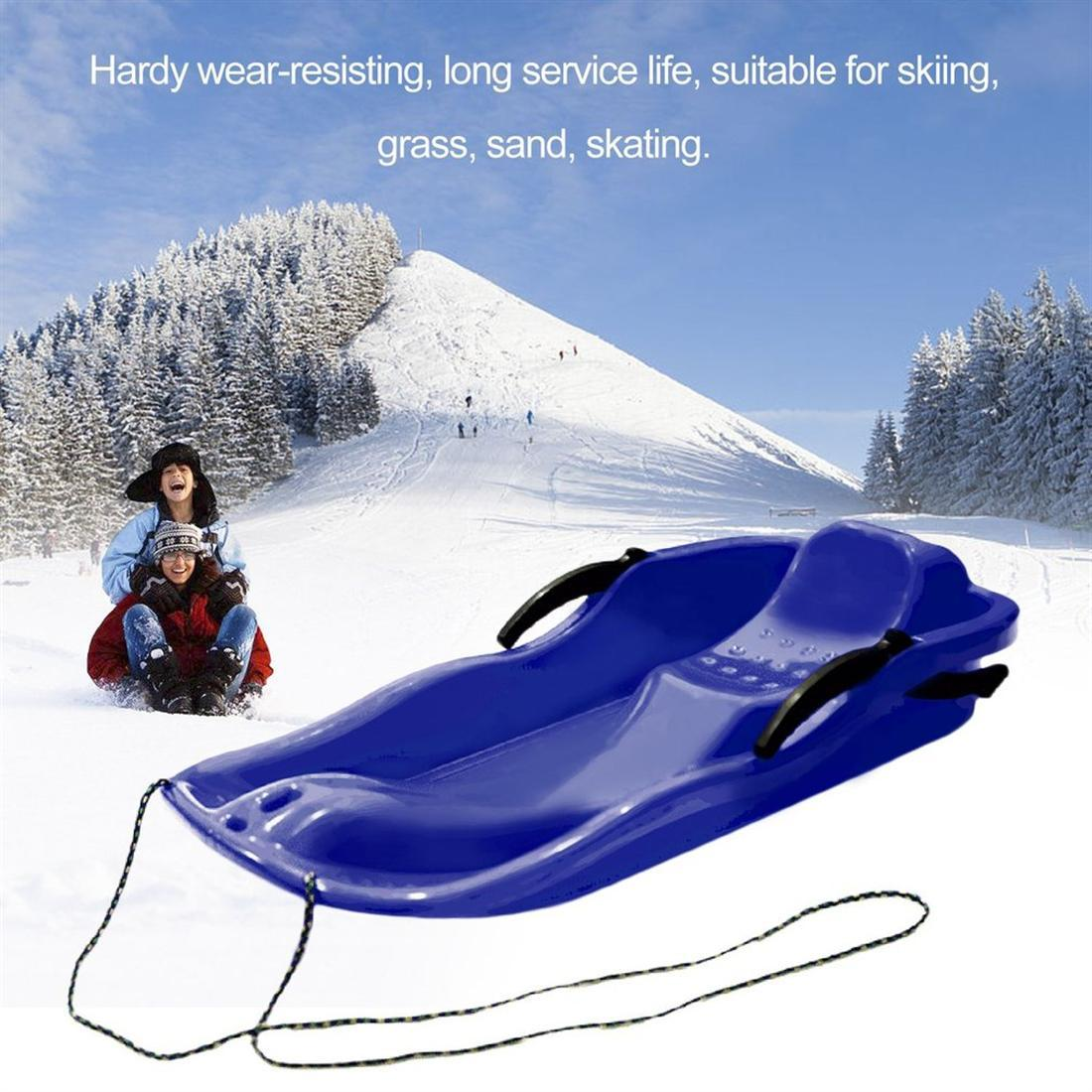 Sports ski Pad traîneau Snowboards skis hiver épaissir plastique sable herbe luge neige luge équipement de plein air enfants adultes enfants
