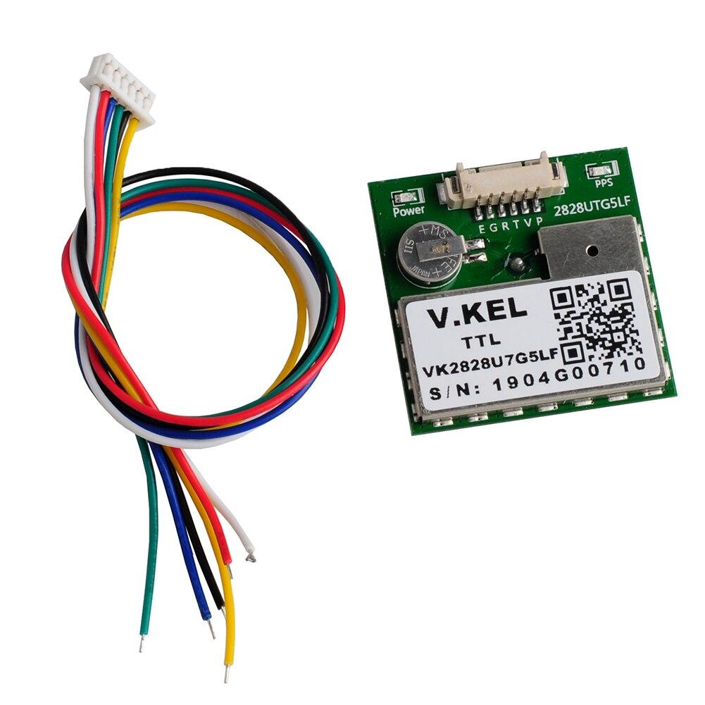 VK2828U7G5LF GPS Module TTL 1-10Hz With Antenna With FLASH Flight Control Model, Support GPS,GLONASS,GALILEO,for Tracking