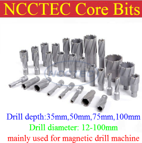 [1.4'' 35mm drill depth] 0.48'' 12mm diameter Tungsten carbide drills bits NTM1235 for magnetic drill machine FREE shipping [2 50mm drill depth] 91mm 92mm 93mm 94mm 95mm diameter tungsten carbide drills bit for magnetic drill machine free shipping