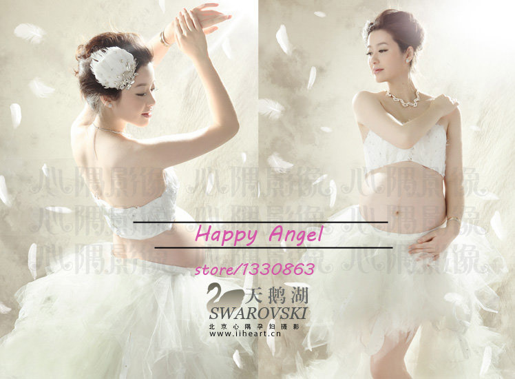 New Maternity Photography Props For Pregnant Women Swan set Dress Pure white Princess Fancy Photo Shoot Free Size Free shipping mennon gc 4in1 photography reference grey card set for manual white balance adjustment