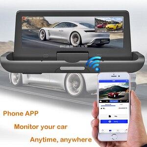Image 5 - Bluavido 8 inch 4G Android DVR Full HD 1080P Camera Thiết Bị Dẫn Đường GPS ADAS Hai Ống Kính nhìn xuyên Đêm tự động Ghi hình Dash Cam
