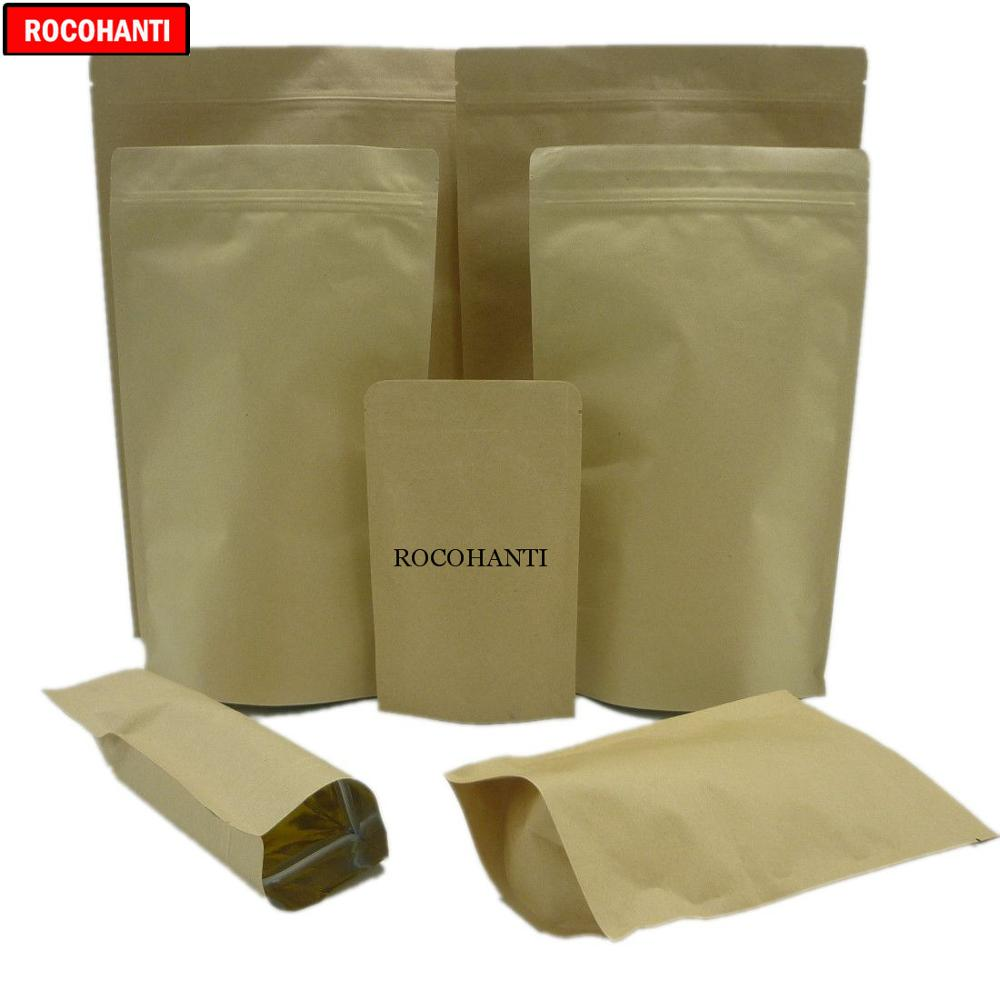 100X Aluminum Foil Packaging Bags Resealable Ziplock Bags Reusable Food Pouches