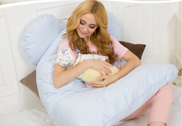 Body Pillows Sleeping Pregnancy Pillow Belly Contoured Maternity U Shaped Removable Cover 130*70cm