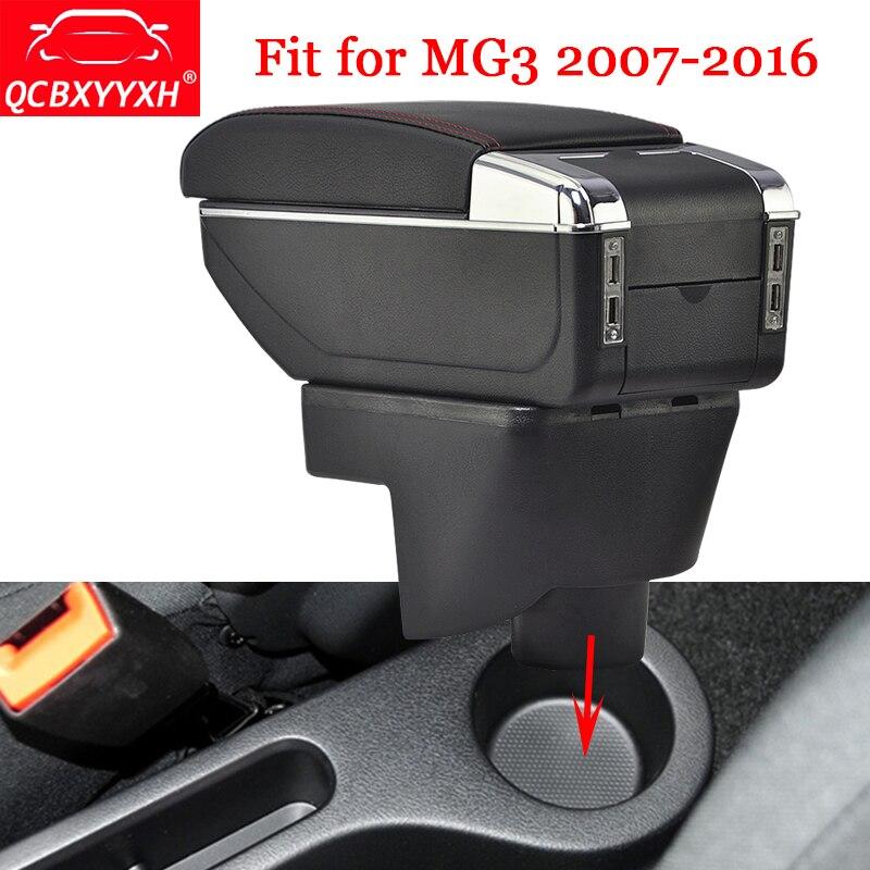 QCBXYYXH style de voiture ABS accoudoir de voiture boîte Console centrale de stockage support de la boîte étui pour MG3 2007-2016 accessoires de décoration Auto
