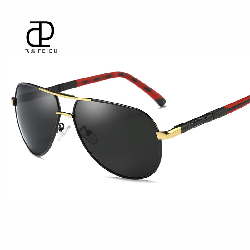 FEIDU High Quality HD Polarized Sunglasses Men Classic Brand Retro Coating Mirror Sun Glasses for Male Driving Eyewear With Box