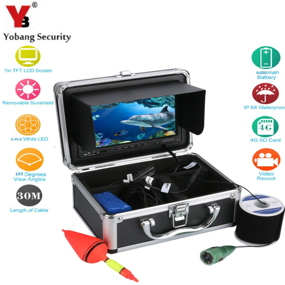 YobangSecurity 7 Inch Color LCD font b Rechargeable b font font b Battery b font Waterproof