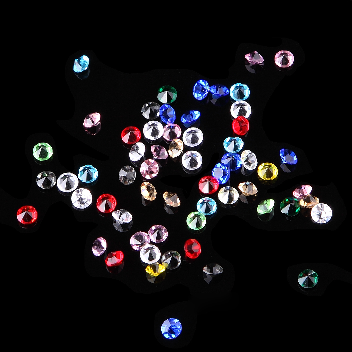 4mm Colorful Nail Art Glitter Glass Crystal Rhinestone Cone Bottom Decor Studs Acrylic Gel Polish 3D DIY Charm Jewelry Accessory  diy 20pcs bag nail art decoration 3d gel polish beautifully oval stone charm diamond acrylic resin nail art accessorietips