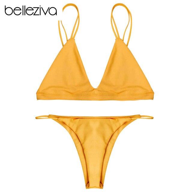 f975bdbdc0 Belleziva Sexy Delle Donne Costume Da Bagno Micro Bikini Set Costumi da  bagno Con Halter Cinghia