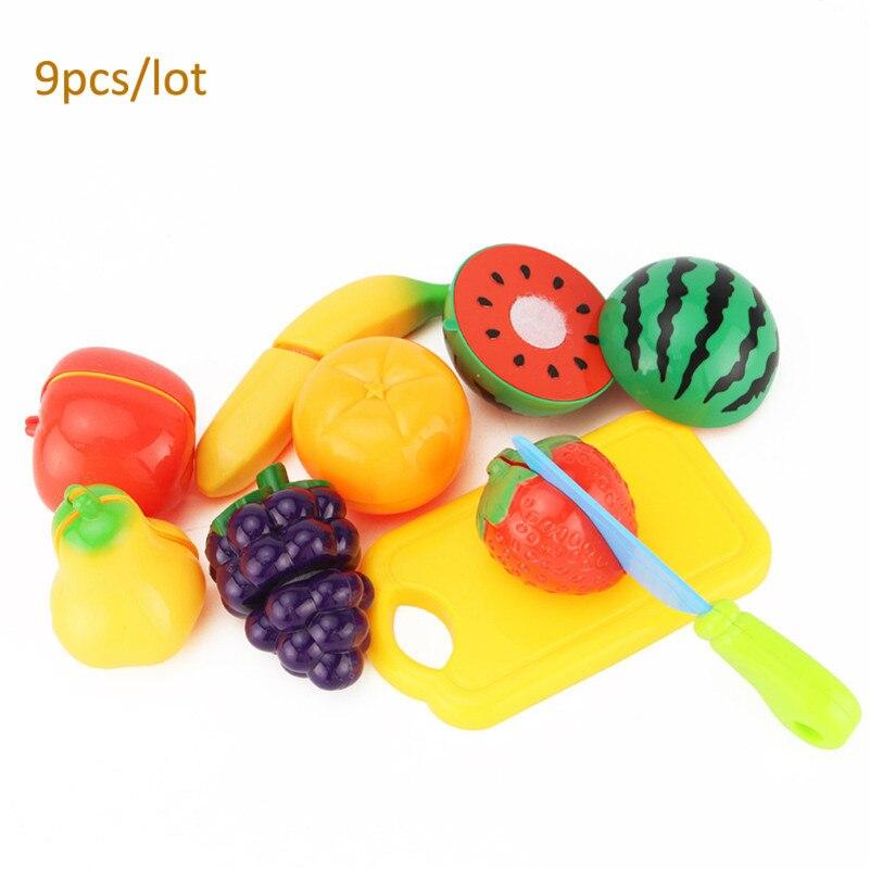 unids plstico cocina comida corte frutas pretend play set nias nios nios plstico educativo toys